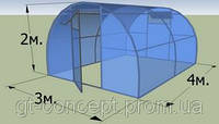 Теплица с поликарбонатом SOTALIGHT 6 мм 4х10м