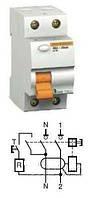 11450 Двухполюсный 25A 30mA  дифференциальный выключатель нагрузки ВД63 Schneider Electric Domovoy