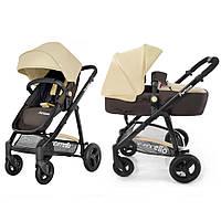 Детская универсальная коляска трансформер CARRELLO Fortuna CRL-9001 2в1 BROWN and BEIGE