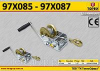 Лебедка канатная с храповым тормозом 0.54т, L-10м,  TOPEX  97X085