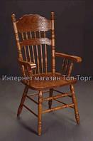 Стул кресло 828-а дуб кантри, кальвадос, в красноту, с подлокотниками, 828A, Бавария-1, деревянный, резной