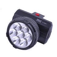 Компактный фонарик на лоб 1396-7LED, фото 2
