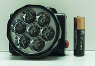 Компактный фонарик на лоб 1396-7LED, фото 3