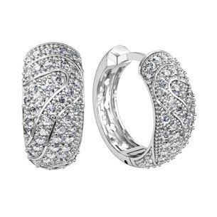 Сережки срібні Візерунок 310550