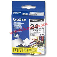 Лента для принтера этикеток Brother TZE251 (TZE251)