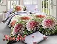 """Красивое постельное бельё, размер двуспальный Евро """"Цветана""""."""