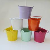 Декоративное цветное ведерко, фото 2