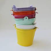 Декоративное цветное ведерко, фото 3