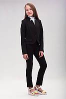 Пиджак школьный укороченый для девочек, размеры 36-40. (П-77)