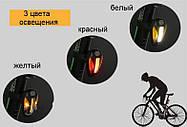 Задний светодиодный аккумуляторный фонарь для велосипеда RPL-2267, фото 3