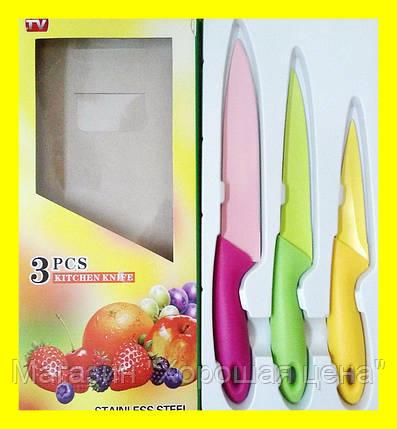 Набор метало- керамических ножей кухонных 3шт., фото 2