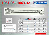 Ключ рожково-накидной с изгибом 45°, 6мм., KING TONY 1063-06