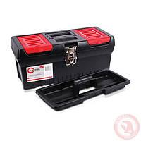 """Ящик для инструментов с металлическими замками 16"""" 396x216x164 мм INTERTOOL BX-1016"""
