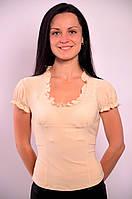 Блузка белая в баварском стиле ,Бл 230349 50, молочный