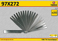Набор щупов 20 пластин,  TOPEX  97X272