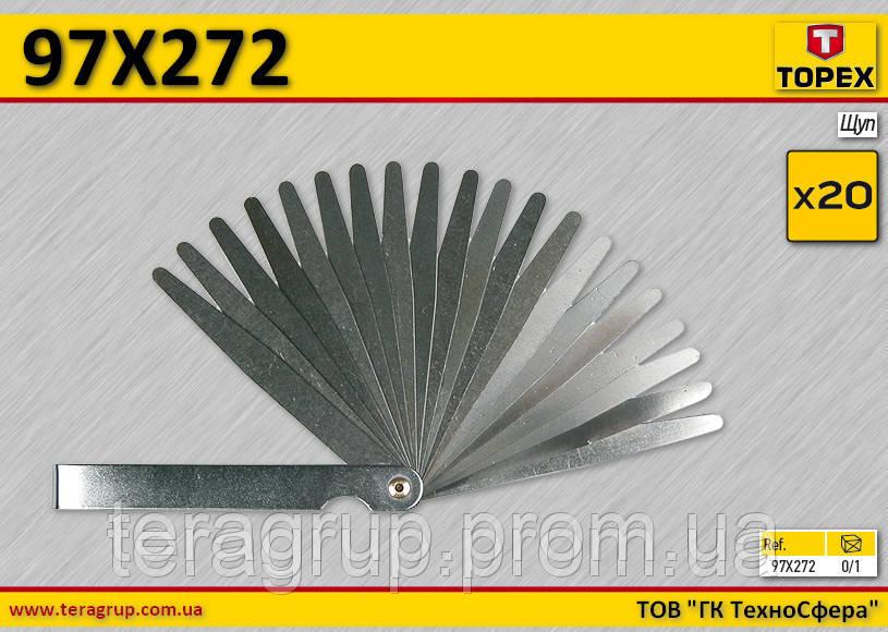 Набор щупов 20 пластин,  TOPEX  97X272, фото 1