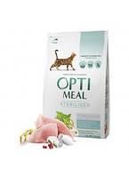 OptiMeal (Оптиміл) сухий корм для стерилізованих котів - індичка та овес 10 кг