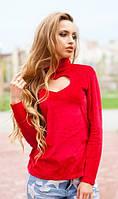 Красная кофта с сердечком