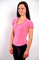 Блузка белая в баварском стиле ,Бл 230349 50, розовый