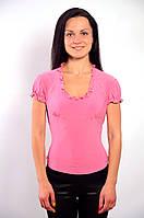 Блузка белая в баварском стиле ,Бл 230349 46, розовый