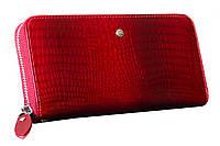 Классический женский клатч F Collection, натуральная лакированная кожа в красном цвете. (15301)