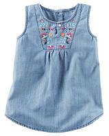 Туника джинсовая с вышивкой Carters