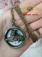 """Часы карманные на цепочке """"Восточный гороскоп. Год Тигра.""""."""