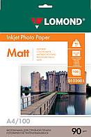 Односторонняя матовая фотобумага для сублимационной печати, A4, 90 г/м2, 100 листов