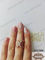 Cеребряное кольцо с золотом Ариэль