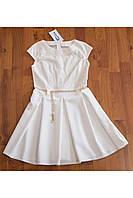 Молочное платье для девочки-подростка