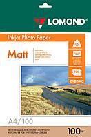 Двусторонняя матовая фотобумага для струйной печати, A4, 100 г/м2, 100 листов