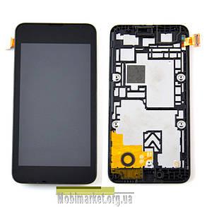 Модуль (сенсор + дисплей) для Nokia 530 Lumia + FRAME чорний, фото 2