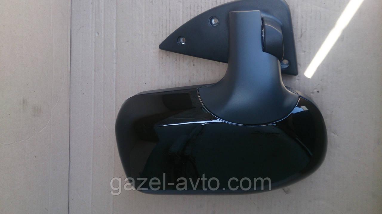 Зеркало боковое Газель,Соболь нового образца (без поворотов) (комплект 2 шт) (Черное)
