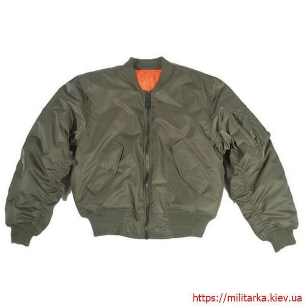 Куртка летная Милтек MA1 нейлон олива