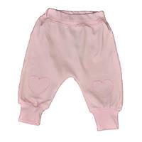Штанишки розового цвета с манжетами для девочки, Ля-Ля