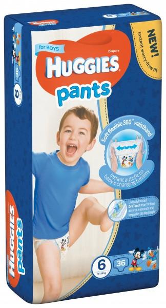 Подгузники-трусики Huggies Pants ( Хаггис трусики ) для мальчиков 6 (15-25 кг) Mega Pack 36 шт.