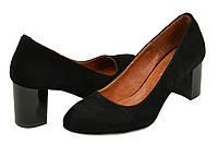 Женские туфли на каблуке велюр
