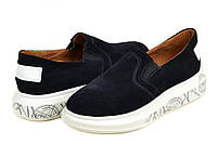Туфли замшевые женские синие