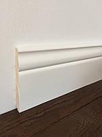 """""""Класик"""" 120х16 мм, Високий білий дерев'яний плінтус, Сосна"""