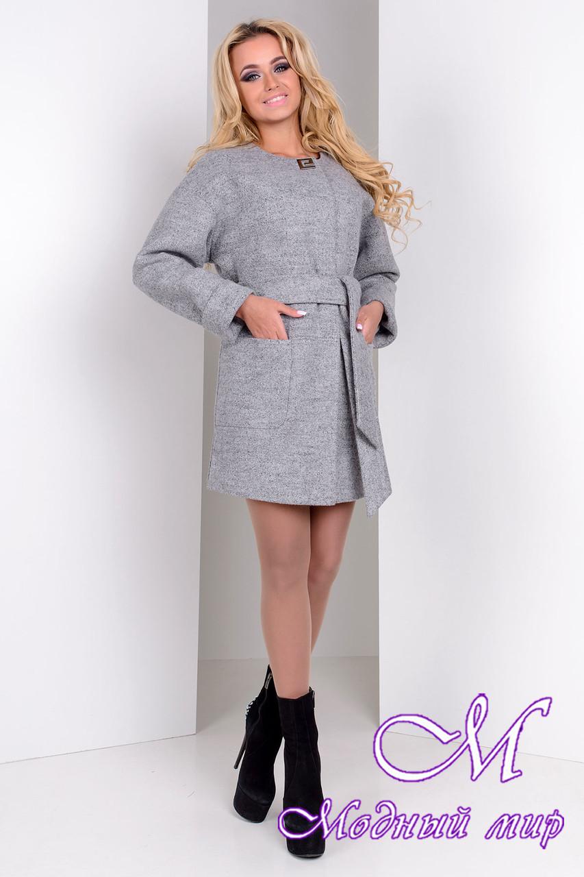 Женское осеннее пальто с поясом (р. S, M, L) арт. Даная 9538