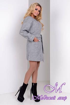 Женское осеннее пальто с поясом (р. S, M, L) арт. Даная 9538, фото 2
