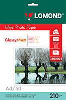 Двусторонняя глянцевая/матовая фотобумага для струйной печати, A4, 210 г/м2, 50 листов