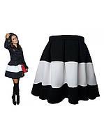 """Юбка комбинированая """"Куколка"""", ткань габардин. Хитовая модная юбка, все размеры, цвета в ассортименте., фото 1"""
