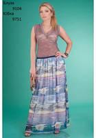 9751 Воздушная шифоновая юбка в пол