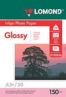 Односторонняя глянцевая фотобумага для струйной печати A3+, 150 г/м2, 20 листов