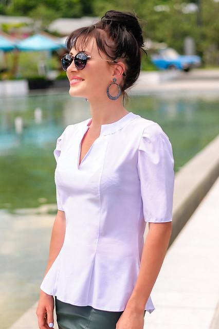 Блузки Женские Белые Офисные Купить