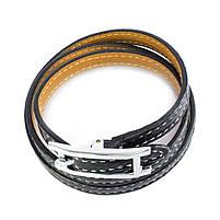 Кожаный браслет Ремешок черный Арт. BS012LR, фото 2