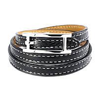 Кожаный браслет Ремешок черный Арт. BS012LR, фото 3
