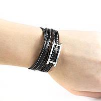 Кожаный браслет Ремешок черный Арт. BS012LR, фото 4