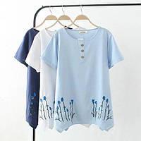 Светлая летняя футболка, фото 1